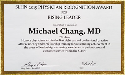2015 Physician Recognition Award for Rising Leader
